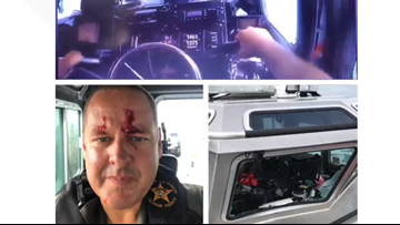 VIDEO | Florida deputy injured during rescue after large wave from Tropical Storm Barry crashes into boat, shatters windows