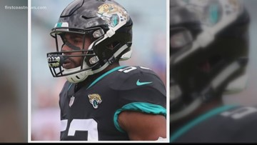 Former Jaguars player arrested, charged with battery