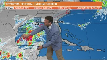 Watching potential tropical cyclone in Gulf; No changes to our rainy Saturday forecast