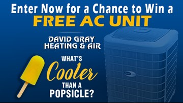 Keep it cool! with David Gray Heating & Air and register now to win a FREE AC Unit.
