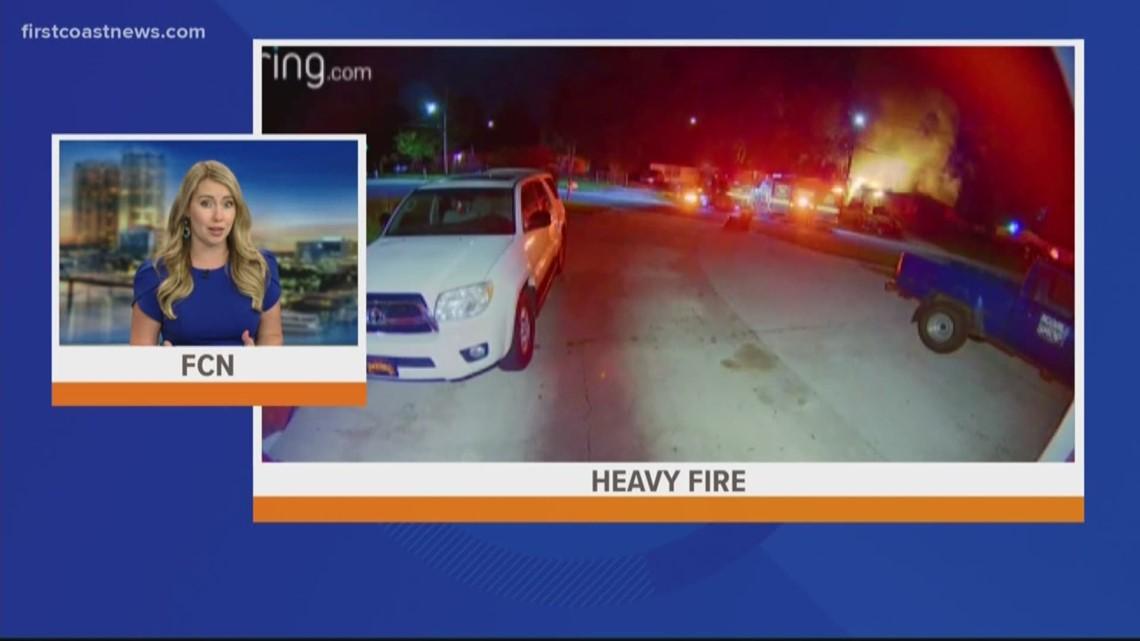 Doorbell camera captures dramatic video of Westside fire