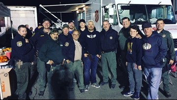 Guy Fieri helps cook, serve dinner for Camp Fire first responders