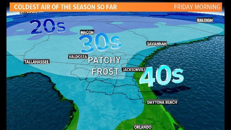 WEATHER: Coldest air so far this season on the way