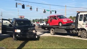 2 people critically injured after SUV rear-ends compact car in Southside