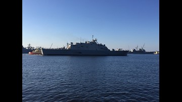 USS Sioux City arrives at Naval Station Mayport