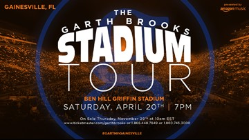 Watch First Coast Living and look for  the word of the day to win tickets for Garth Brooks concert!