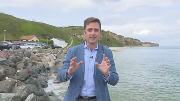 Lewis Turner is LIVE at Omaha Beach ahead of D-Day