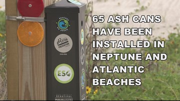 Cigarette ash cans installed at local beaches