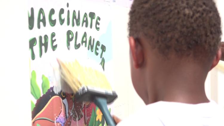 New mural on Jacksonville's Eastside spreads vaccine awareness