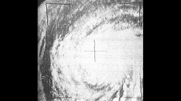 Hurricane Esther as seen by the TIROS III satellite in 1961