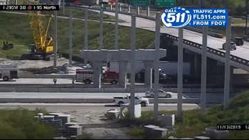 All lanes back open after overturned semi in Jacksonville closes I-95 NB at I-295 WB