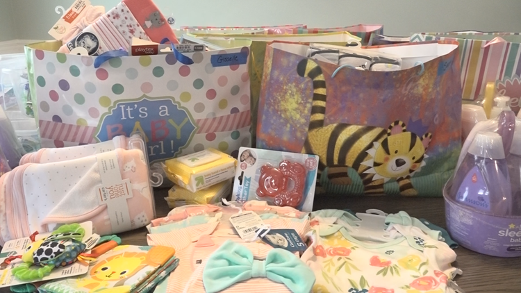 The Players, Operation Shower celebrate 40 military moms-to-be with drive-in baby shower Sunday