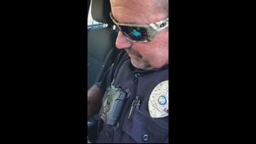 TRY NOT TO CRY | Putnam Co. officer's sons thank him during final call after 15 years of service