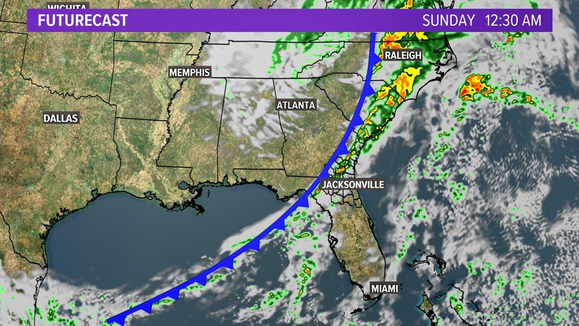 First Coast Forecast: Warming into Saturday before the next front drops