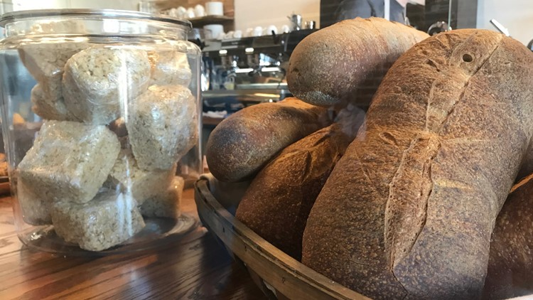 Sourdough loaves at 1748 Bakehouse in Springfield