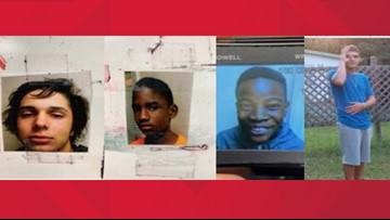Three missing Lake City teens, one child found