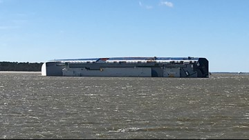 Protective barrier to be built around capsized Golden Ray cargo ship