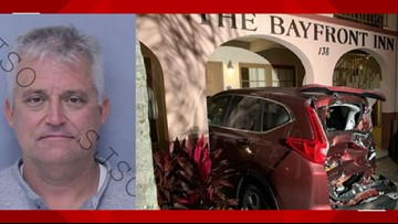 Alleged drunk driver hits 8 cars, damages property at St. Augustine's Bayfront Inn