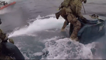 WATCH | U.S. Coast Guard jump all over self-propelled sub carrying 16K pounds of cocaine.