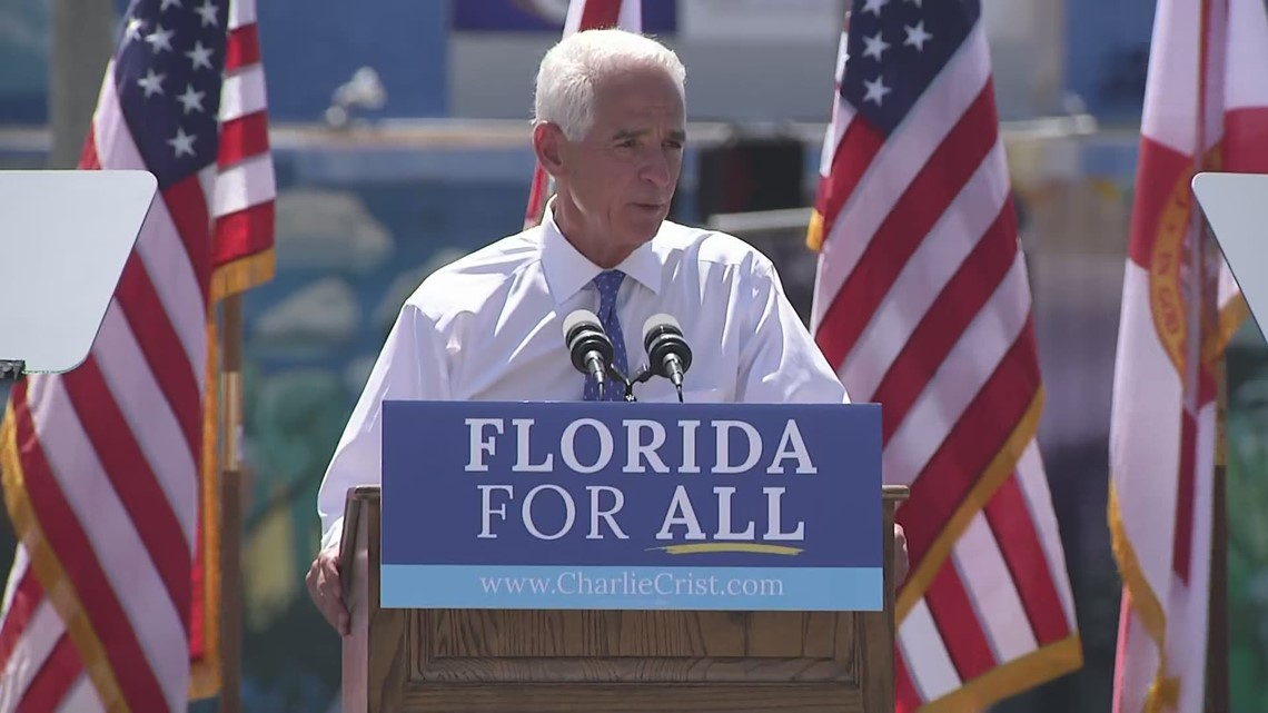 US Rep. Charlie Crist announces Democratic bid for Florida governor