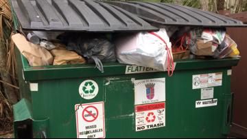 St. Augustine recycling dumpsters full of plastic bags; Here's why it's a problem