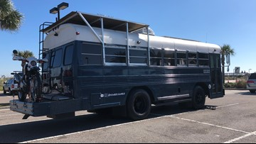 Jacksonville Beach couple takes 'tiny home' to new extreme, lives out of old Air Force bus