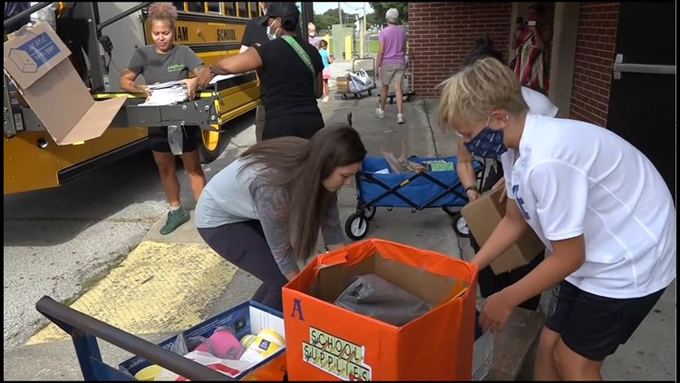 'Unstuffing' begins following annual Stuff the Bus event