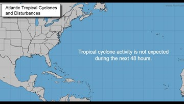 TROPICS: No development expected in the Gulf with dry air and shear