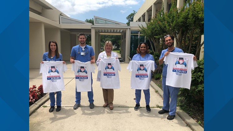 Special Delivery: Special shirts for special people; superheroes in scrubs