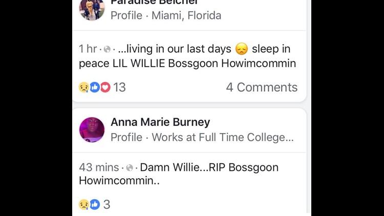Facebook posts Bossgoon Howimcommin
