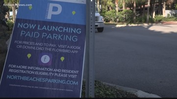 Paid parking starts at the Beaches Town Center area