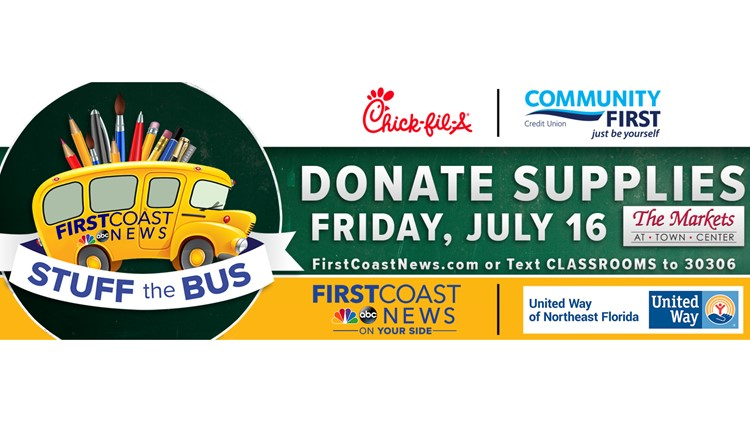 First Coast News hosting annual Stuff the Bus event today, here's how to donate