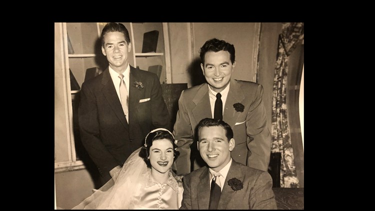 """Helen and Gene Edwards with the NBC cast on """"Bride and Groom"""""""