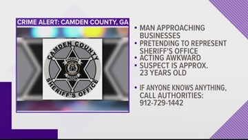 Man posing as Camden County Sheriff's Office employee, approaching businesses