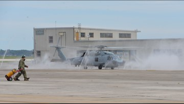 Helicopters return to NAS Jacksonville after Hurricane Dorian