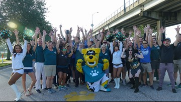 Jax Chamber kicks off 25th annual 'Painting of the PawPrints' in Downtown Jacksonville