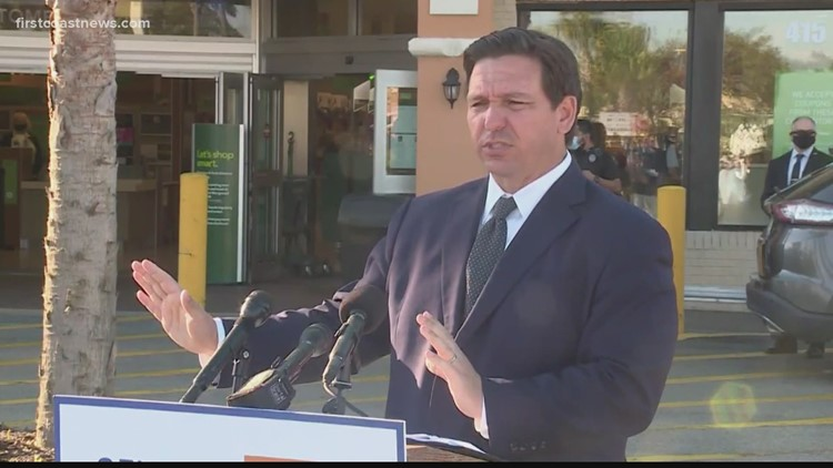 'We don't want people to have to be isolated in their homes being scared': Gov. DeSantis discusses Walmart vaccines Wednesday