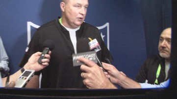 Doug Marrone at the NFL Combine