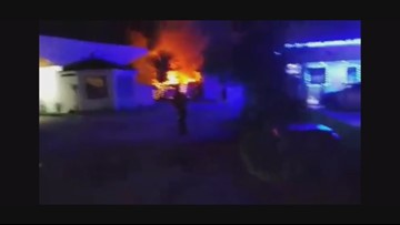 RAW VIDEO: Fire at Beach Buggy in Jacksonville Beach