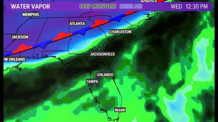 Pop up storms late today with heavier widespread rain Wednesday-Friday