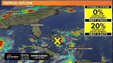 TROPICAL UPDATE: Tropical trouble brews in the Bahamas