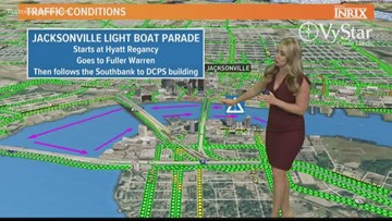 Jacksonville Light Boat Parade in Downtown Jacksonville Saturday