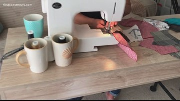 Jacksonville seamstress puts talents to use by sewing masks