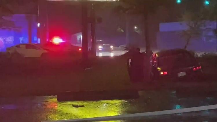 JSO: Adult, child injured after police pursuit ends in 3-car crash