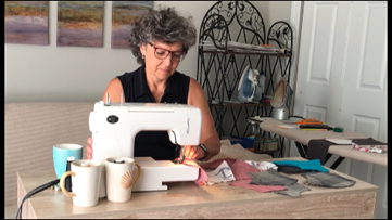 Clay Co. seamstress sewing facemasks upon request for her community