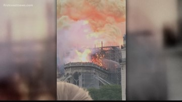 Yulee native captures heartbreaking video of Notre-Dame Cathedral engulfed in flames