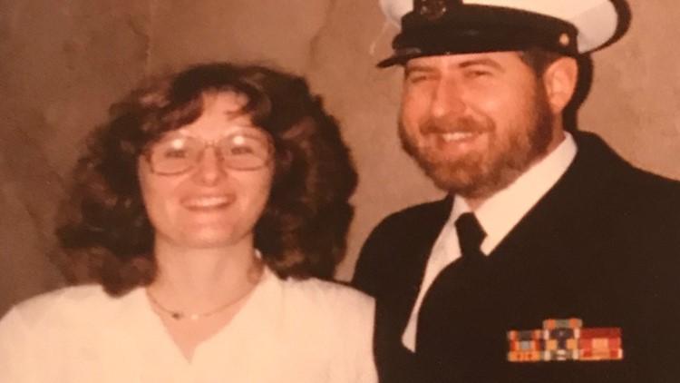 Carol Hermsdorf and her husband, Senior Chief John Hermsdorf
