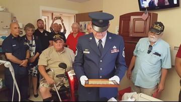 Veterans honor fellow dying vet granting daughter's wish