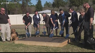 Groundbreaking ceremony held for Ponte Vedra K9s for Warriors campus
