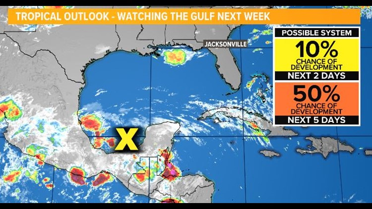 Tropics: Possible system in the Gulf by next week
